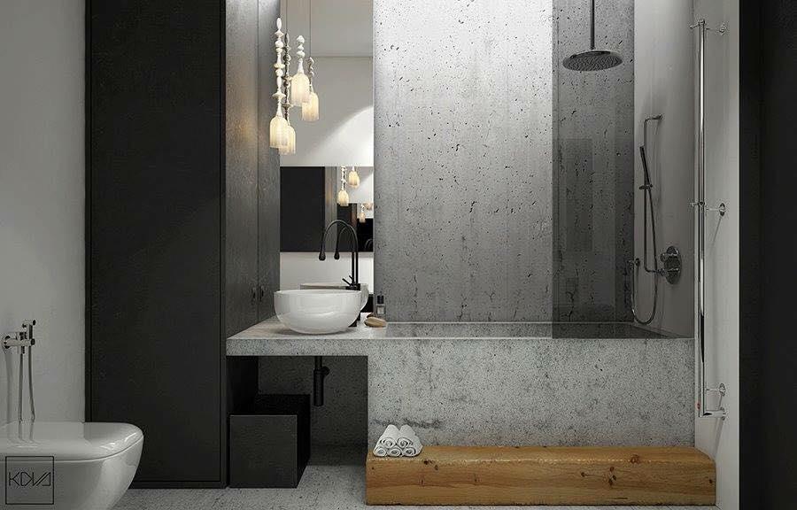 Ngỡ ngàng vẻ đẹp phòng tắm khi sử dụng vật liệu bê tông trang trí